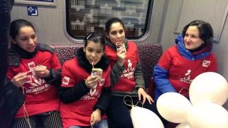 Foto One billion Rising U-Bahn