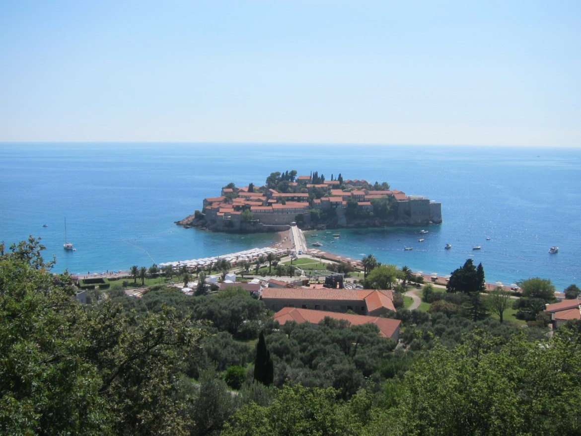Budva and a glimpse of luxury (from a distance)