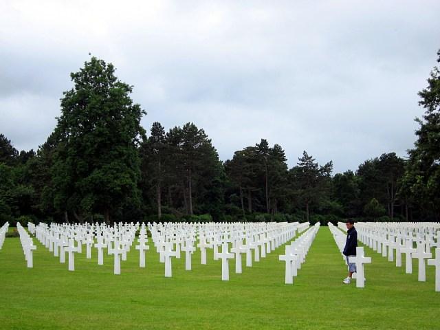 American War Memorial in  Colleville-sur-Mer, Normandy, France,