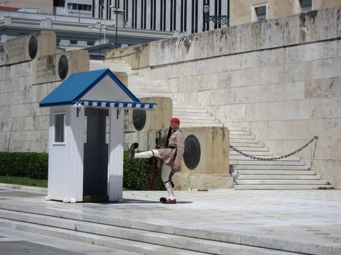 changing guard