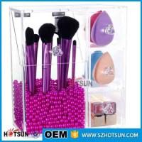 Acrylic Makeup Brush Holder with Lid, Acrylic Brush ...