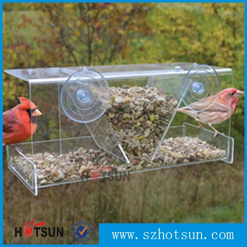 products large acrylic window bird feeder with heavy duty suction cups best sell acrylic plastic bird feede l