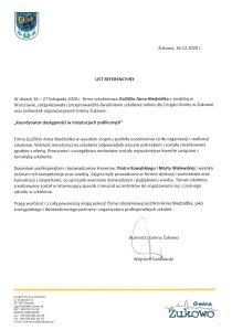 Referencje Urząd Gminy Żukowo