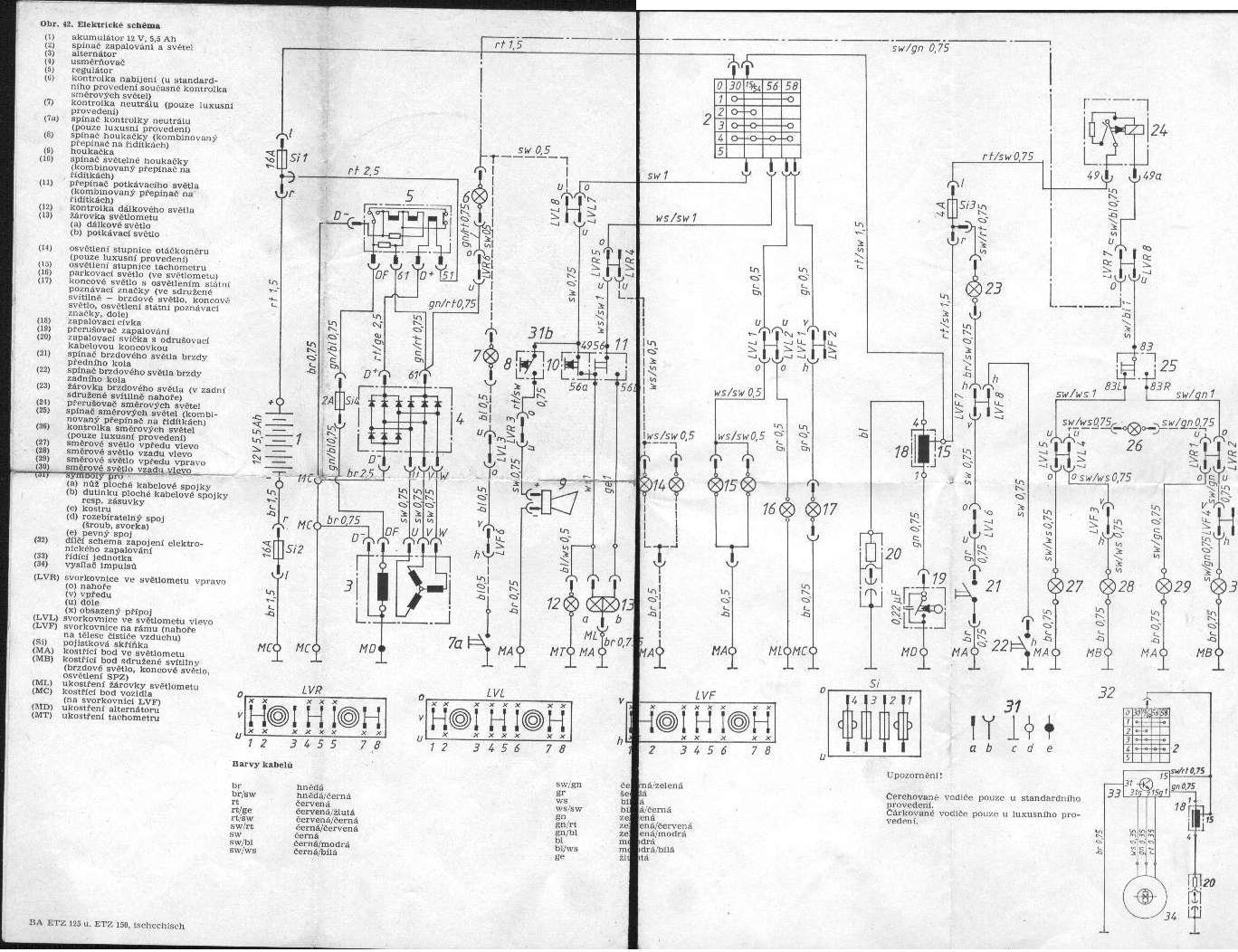 Schaltplan Mz Ts 150 6v