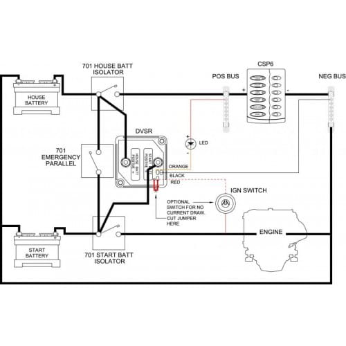 BEP izolator baterii 710-140A przekaźnik VSR Sklep