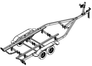 1tons-10tons Galvanized Heavy Boat Trailer Manufacturers