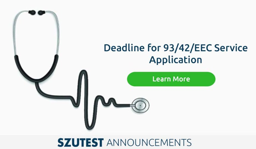 Deadline for 93/42/EEC Service Application