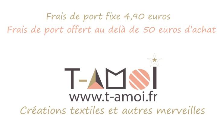 Frais de port fixe et offert au delà de 50 euros d'achat.