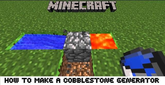 How To Make A Cobblestone Generator In Minecraft Skyblock
