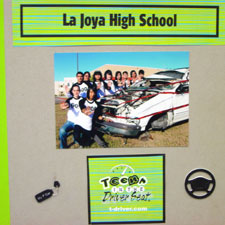 La Joya High School scrapbook cover.