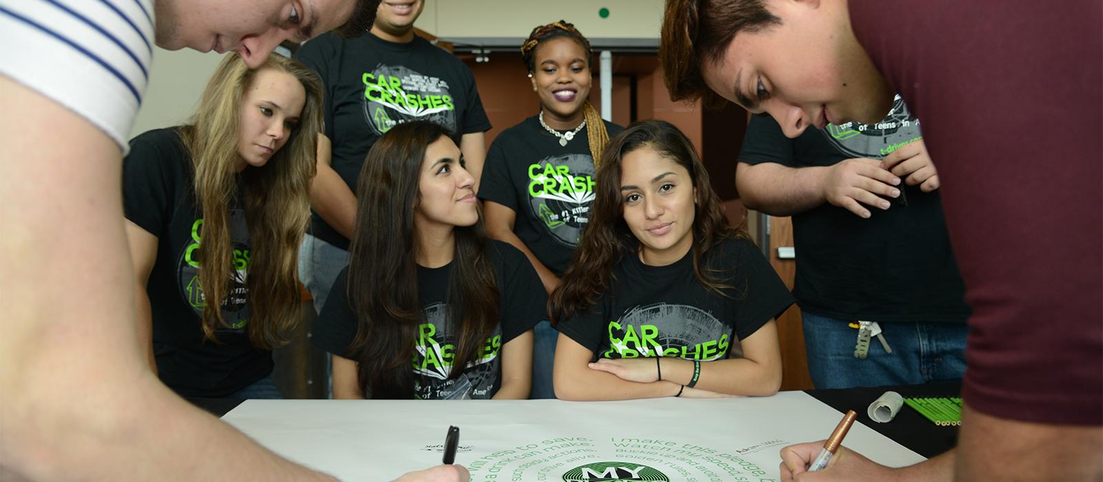 TDS marketing photos pledge signing