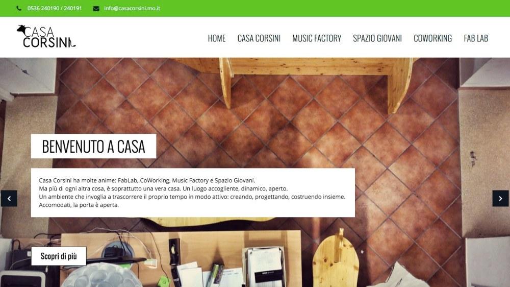 Sito e identità visiva Casa Corsini - header sito