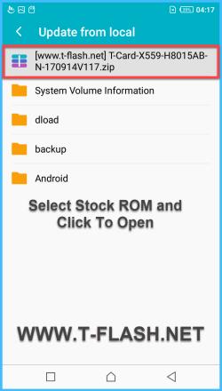 Upgrade Infinix Phones Firmware By TCard OTA Update
