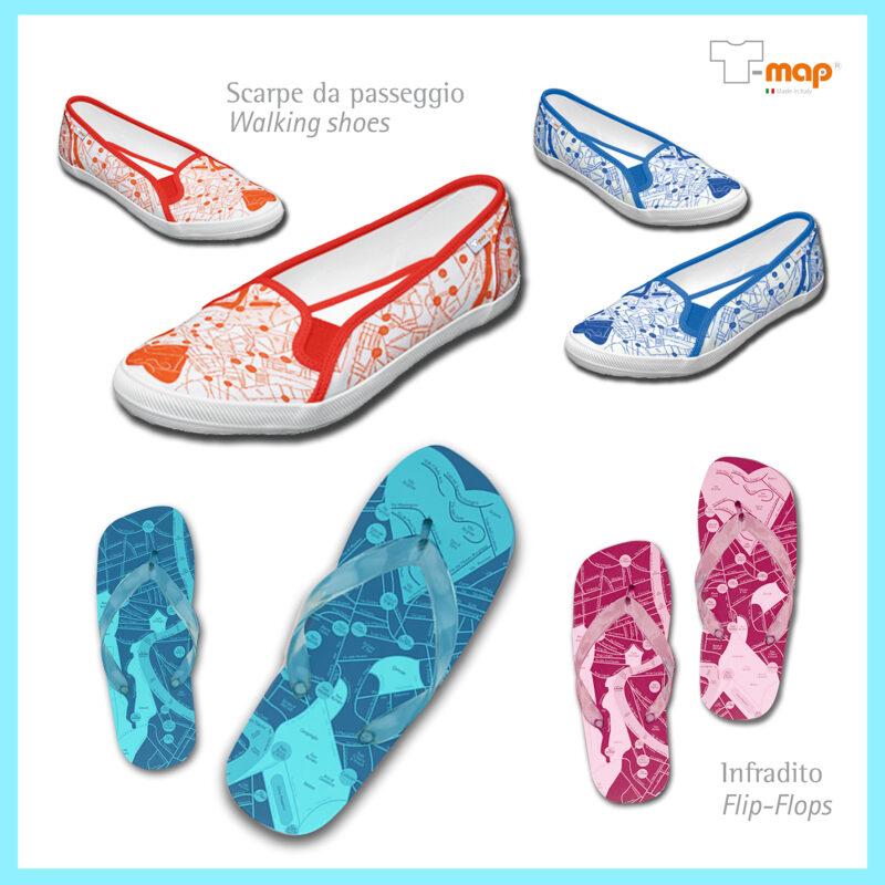 T-map design shoes