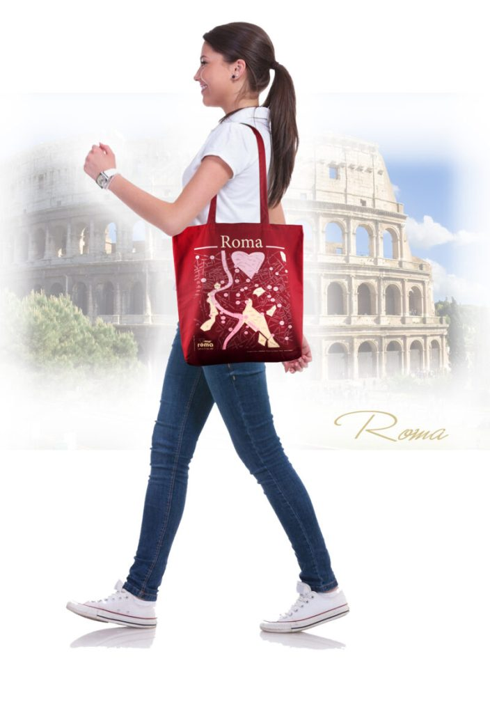 Roma shopper bag t-map