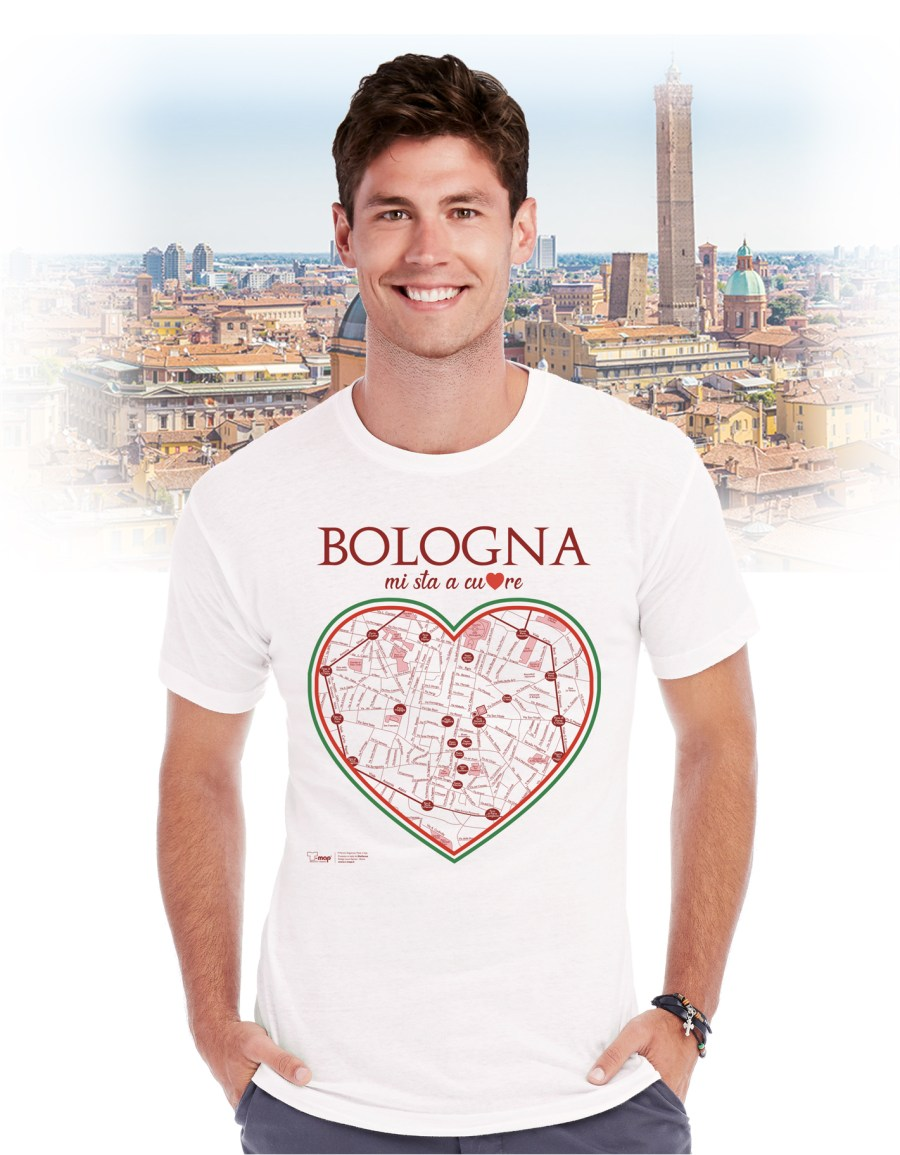 T-shirt bologna cuore