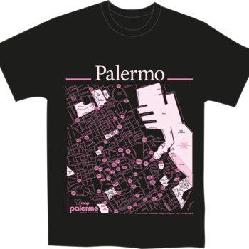 Palermo T-map T-shirt nero