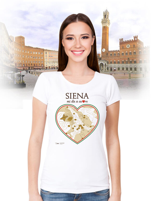 Siena T-shirt cuore T-map