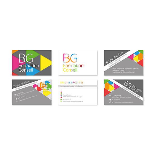 Identite BG Formation Conseilcarte De Visite Propositions