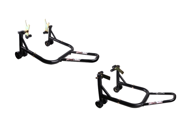 T-Rex Racing Black Front and Rear Motorcycle Stands V