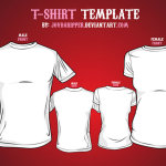 T-shirt mockup template for Men and women