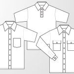 Woven shirt and polo shirt template