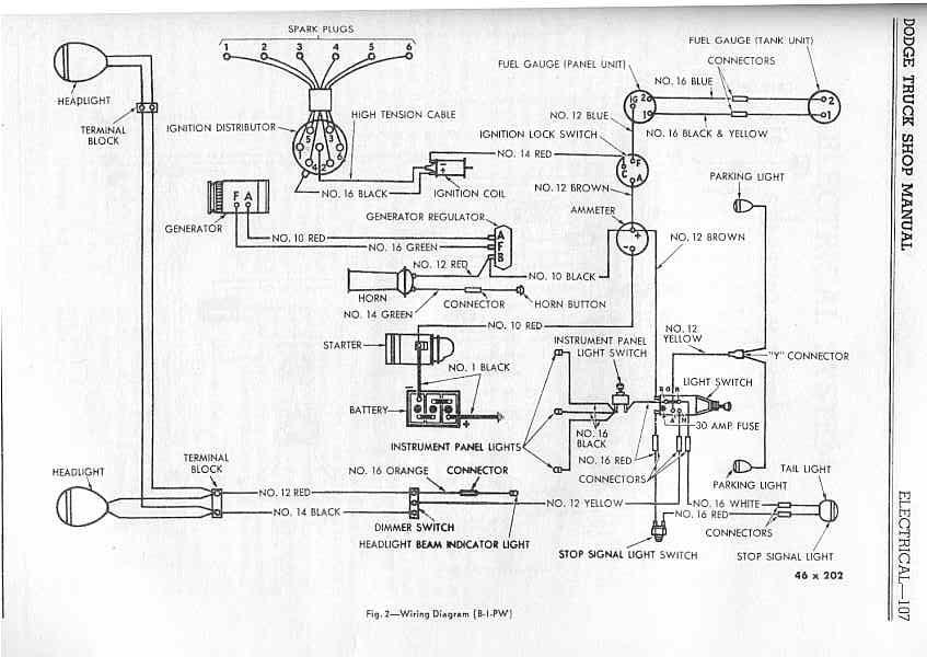 1948 dodge pickup wiring diagram  schematic wiring diagram