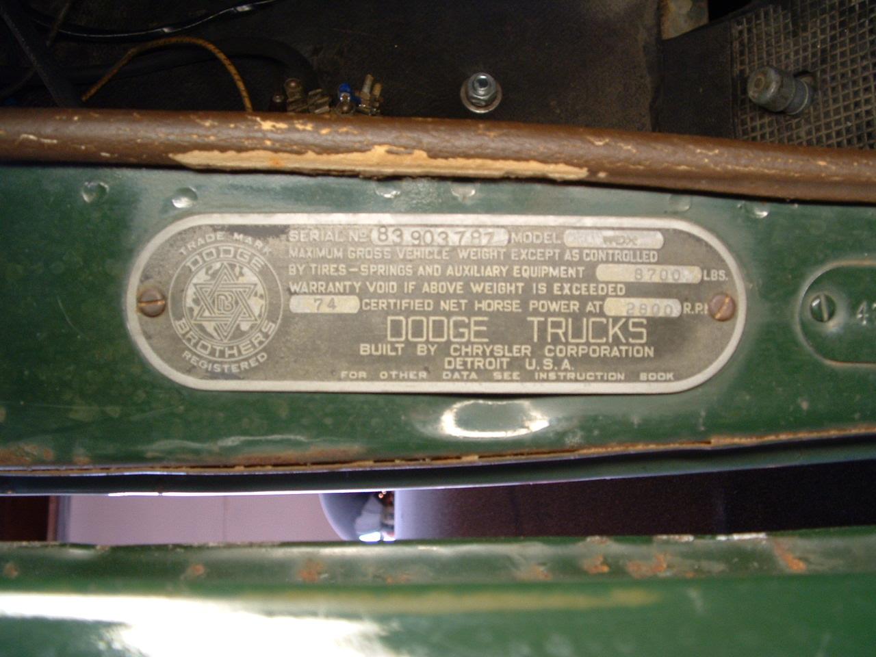 Power Wagon Registry Display