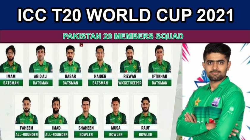 Pakistan Team Squad for ICC T20 World Cup 2021