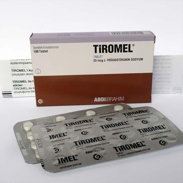 Tiromel T3 by Abdi Ibrahim Liothyronine Sodium 100 tablets 25 mcg/tab -  Tiromel