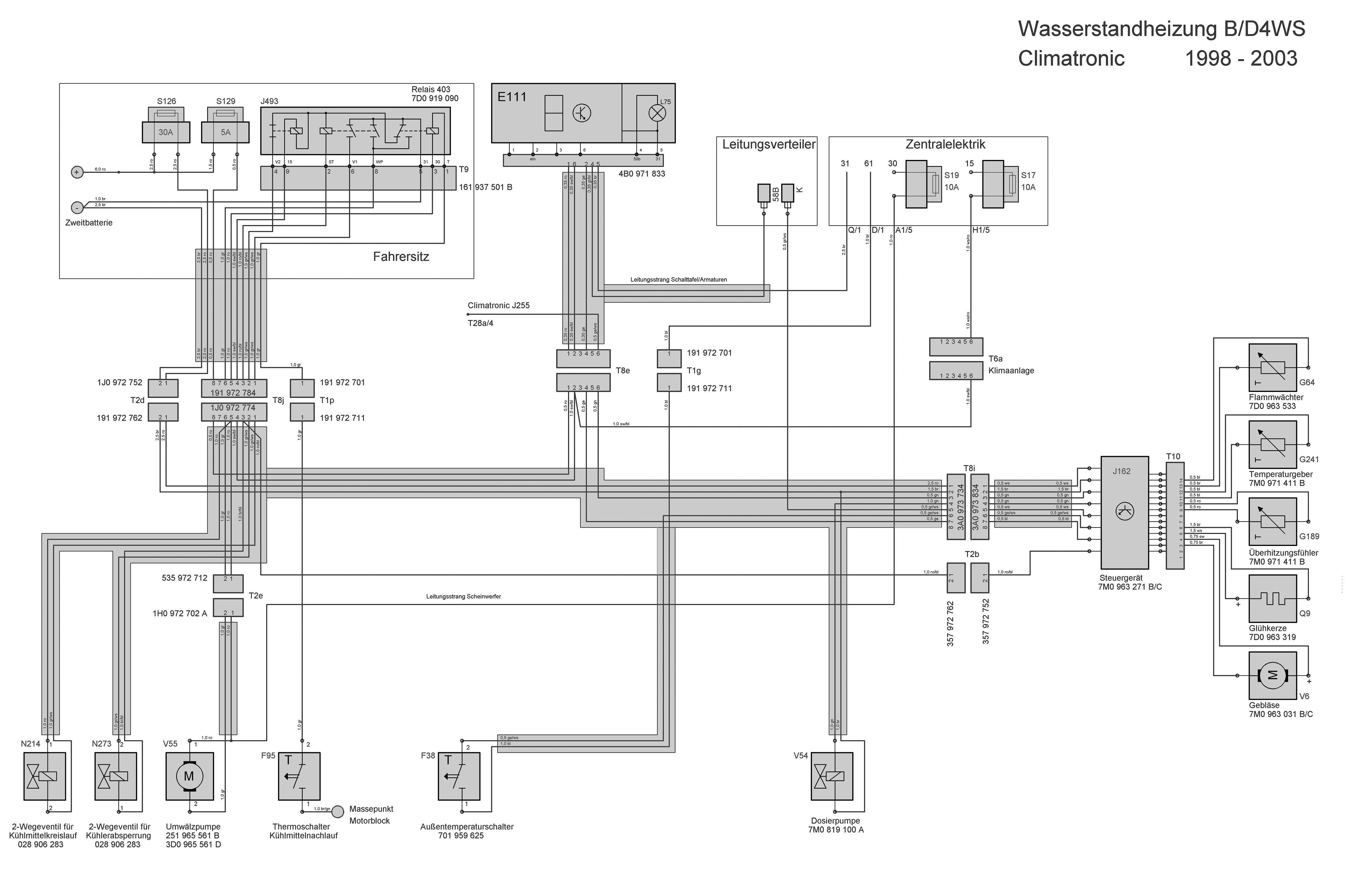Vw T4 Climatronic Stromlaufplan