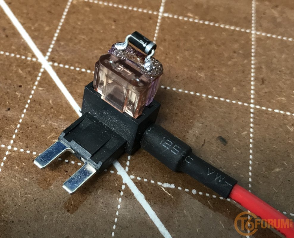 medium resolution of diode and fuse in dual piggy bag insert