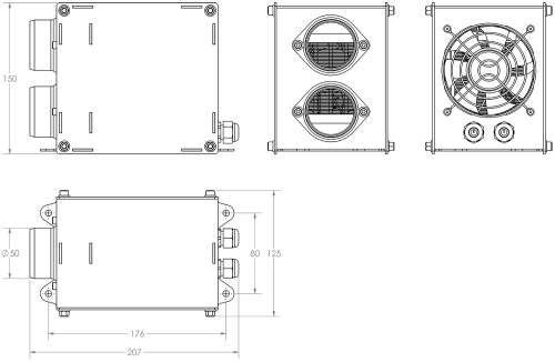 small resolution of 12v 600w ducted electric cab heater dimensions