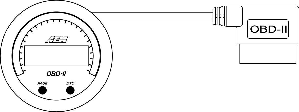 AEM X-Series OBDII Gauge 30-0311