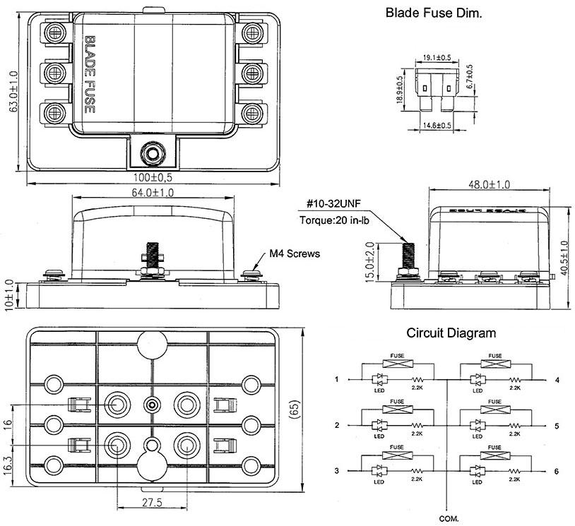 12v fuse box holder