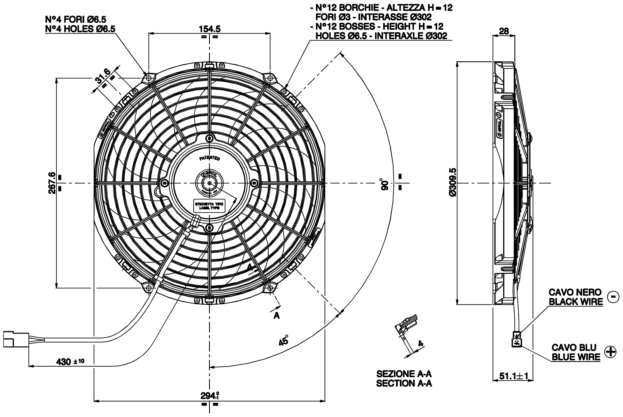 hight resolution of va09 bp8 c 54s dimensioned drawing