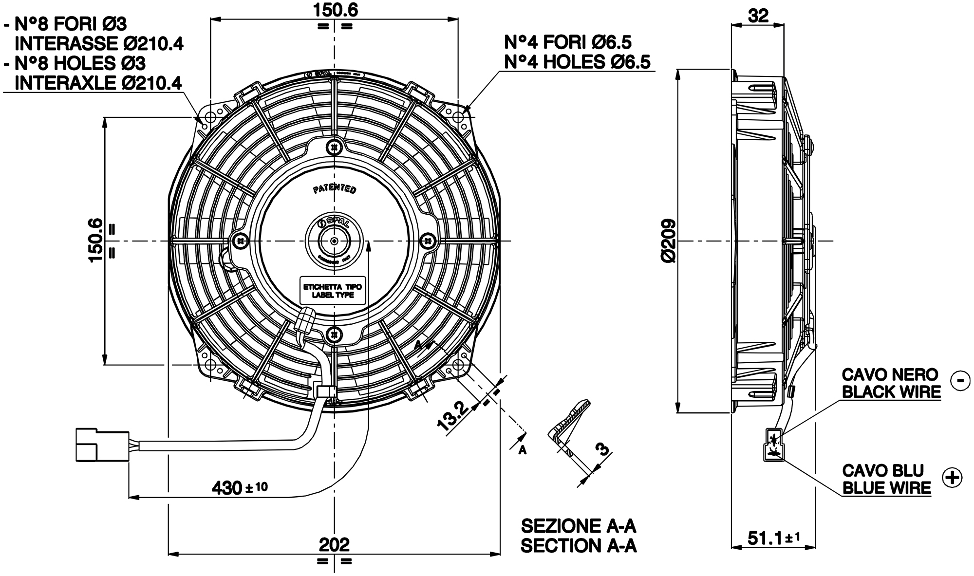 hight resolution of va22 ap11 c 50 dimensioned drawing