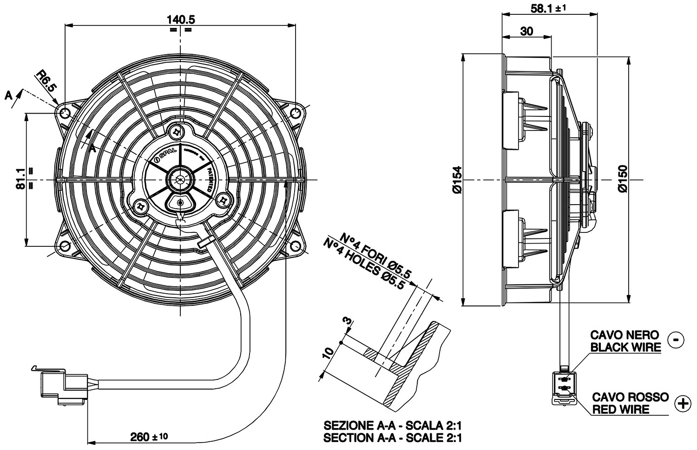 Vehicle Radiator Fan 5 5 Va39 A101 45a
