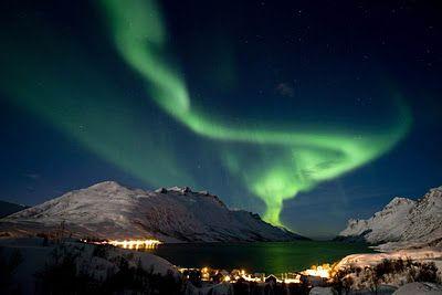Aurora borealis in Noorwegen