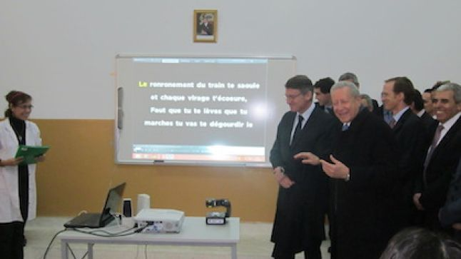 وزير التربية مع نظيره الفرنسي في زيارة لشعبة الباكالوريا الدولية بطنجة