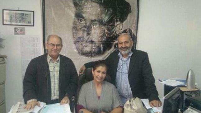 خديجة غامري، عبد الحميد أمين، عبد الرزاق الإدريسي أعضاء الأمانة الوطنية للإتحاد المغربي للشغل / بيان