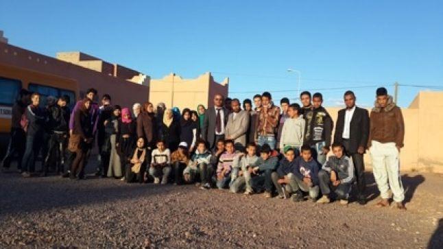 ثانوية سيدي احمد بن ناجي بورزازات تنظم رحلة للمتفوقات و المتفوقين من تلامذتها.
