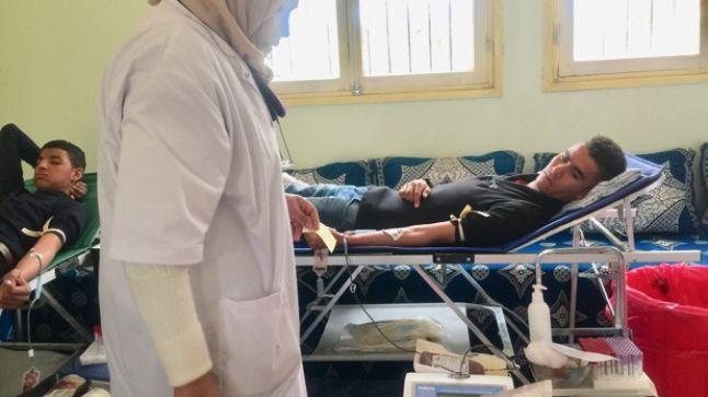 سكورة: حملة للتبرع بالدم بثانوية أبي القاسم التأهيلية.. فيديو