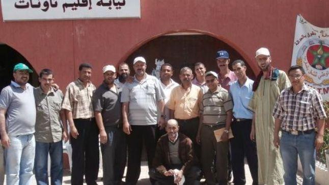 تاونات: المكتب الإقليمي للجامعة الوطنية لموظفي التعليم ينفذ اعتصام و يطالب بالافتحاص