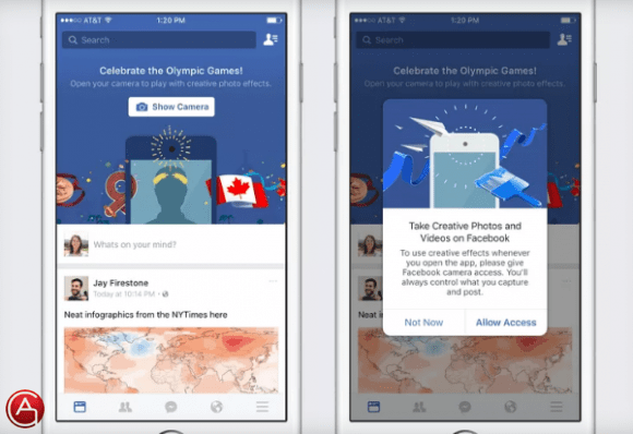 فيس بوك نفسها تختبر تحويل تطبيقها إلى منافس لسناب شات