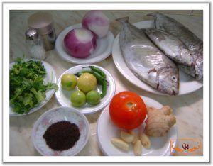 مكونات السمك المشوى