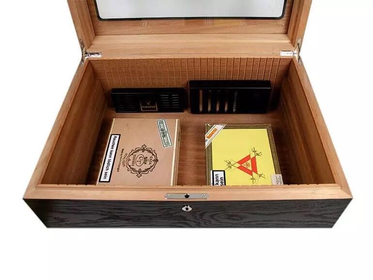 posizione sistema d'umidificazione scatola sigari