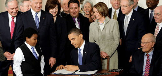 President Obama Signing the Affordable Care Act