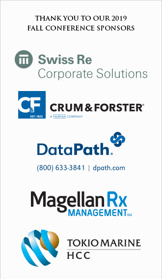 Thank you to our Fall 2019 conference sponsors