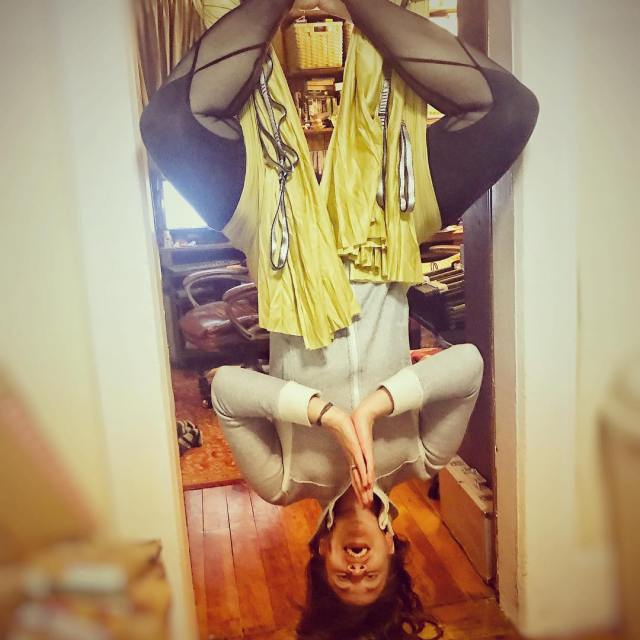 Hanging around aerialyoga defaultface